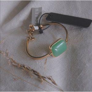 NWT J. CREW Single Stone Hinged Cuff Bracelet